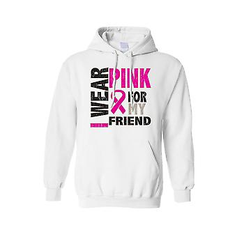 Unisex Hoodie Breast Cancer Awareness I Wear Pink for my Friend