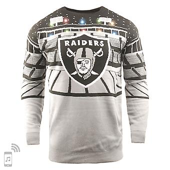 NFL Ugly Sweater XMAS LED Pullover - Oakland Raiders