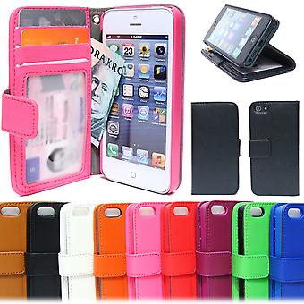 Wallet Case iPhone 5c met id/foto Pocket 3st kaart