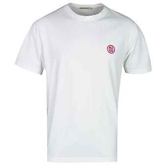 Nudie Jeans Co Uno Off White Badge T-Shirt