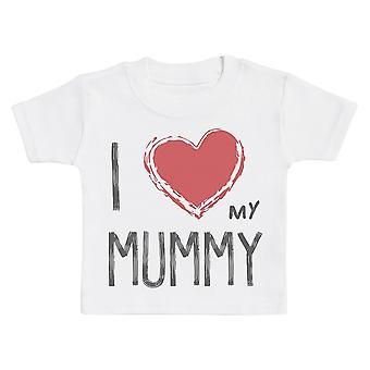 Ik hou van mijn mummie rood hart Baby T-shirt