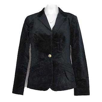 C. Wonder Women's Blazer Velvet Button Front Dark Blue A284186