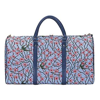 Almond blossom and swallow travel big holdall by signare tapestry / bhold-blos
