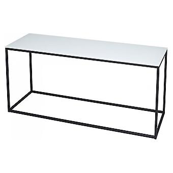 Gillmore White Glass e Black Metal Contemporary TV Stand