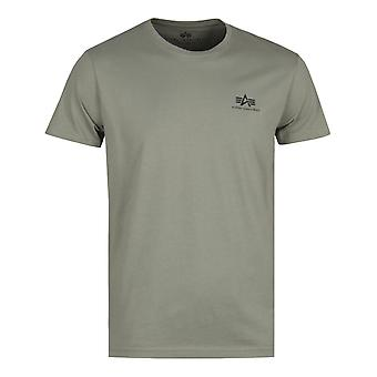 Alpha Industries Basic Olive Logo Tee