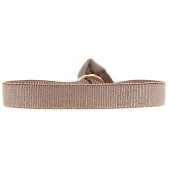 Les verwisselbare armband A46598-9mm beige vrouwen lint