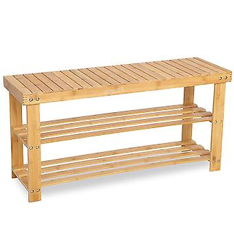 Bambus Schuhträger/Bench-90 cm