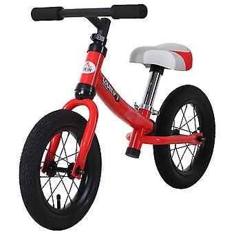 HOMCOM Kids Balance Bike Low Metal Frame w/ Adjustable Seat Foam Hand Grips 2-5 Yrs 25kg Stylish Red