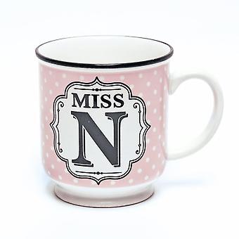 Histoire et Heraldry Alphabet Mug - Miss N