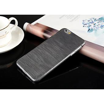 Mobile shell brushed aluminum imitation plastic Black