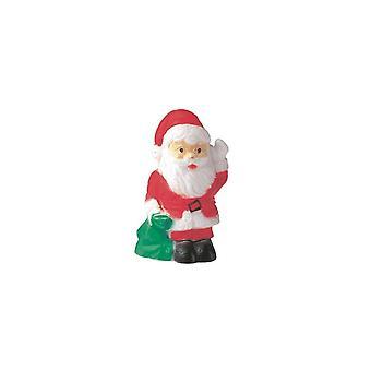 Culpitt Plástico Santa com saco - decoração do bolo de Natal - único