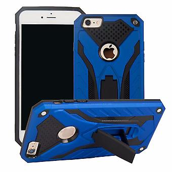 Para iPhone 6 y 6S caso, armadura fuerte a prueba de golpes Tough Cover Kickstand, azul