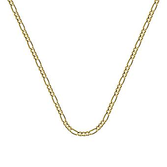 10k Yellow Gold 1.28mm Figaro Chain Necklace Spring Ring Closure Jewelry Gifts for Women - Length: 16 to 20