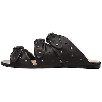 Pour La Victoire Women's Logan Flat Sandal, Black, 10 Medium US