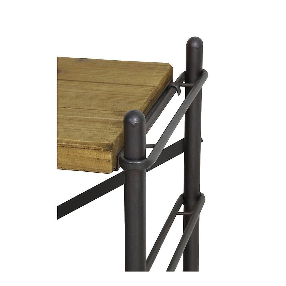 Unité d'étagères légères et vivantes 5 couches 100x42x200cm Lima Wood