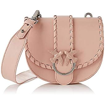 Pinko Round Love Twist Pink Shoulder Bag (Light Pink) 7x17x20 cm (W x H x L)