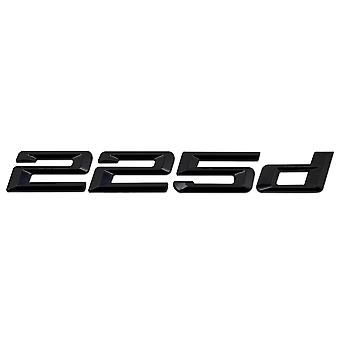 Gloss Black BMW 225d Car Badge Emblem Model Numbers Letters For 2 Series F22 F45 F46