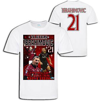 Zlatan Ibrahimovic - AC Milan 21 estilo t-shirt esportiva