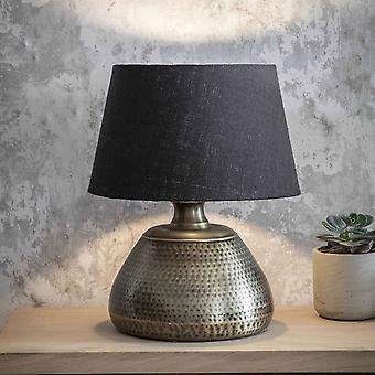 Jardin trading Kielder petite lampe de table Crafted In Hammered Antique Brass