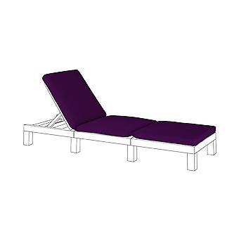 Gardenista Gardenista Sun Lounger Replacement Pad para Allibert Keter Daytona   Rattan Sunlounger Recliner Patio Furniture Cushion   Resistente à água e leve   Fibra hipoalergênica preenchida (roxa)