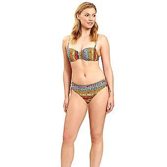 Féraud 3205079-16575 Női's Sokszínű Ethno Gyöngy nem párnázott bikini szett