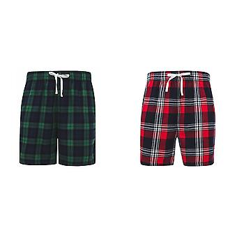 SF Mens Tartan Lounge Shorts