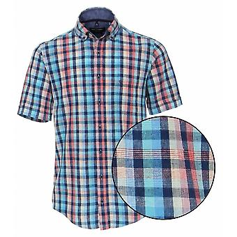 CASA MODA Casa Moda Multi Colour Check Linen Shirt