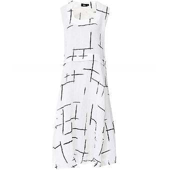 Ralston Doris Graphic Linen Sleeveless Dress