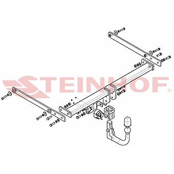 Automatyczny odłączany pasek holowniczy Steinhof (pionowy) dla Mazdy CX-3 2015