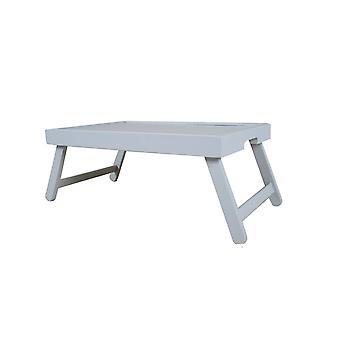Table de plateau de lit à la maison de pingouin avec des jambes-fabriquées dans le bois dur plein
