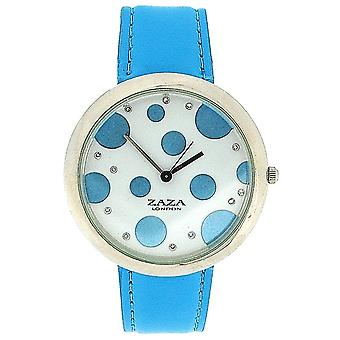 Zaza London Sky Blue PU Strap Ladies & Blue Spotty Dial Fashion Watch LLB850