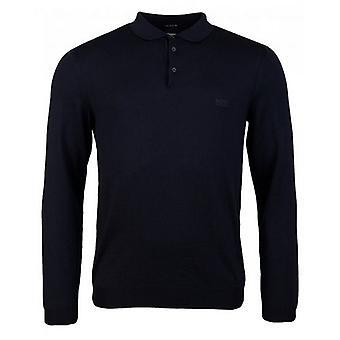BOSS Bono Merino Wool Long Sleeved Polo Shirt