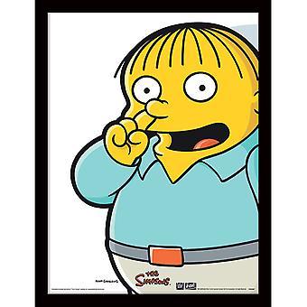 Simpsons Ralph Pick Placa Emoldurada 30 * 40cm