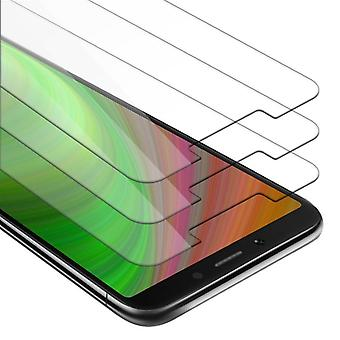 Cadorabo 3x Tank Foil for Xiaomi RedMi 6 - Protective Film in KRISTALL KLAR - 3 Pack Tempered Display Protective Glass in 9H Hardness with 3D Touch Compatibility
