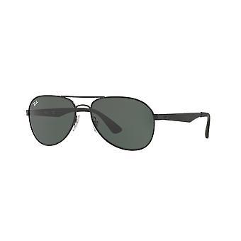Ray-Ban RB3549 006/71 Matte Black/Green Sunglasses