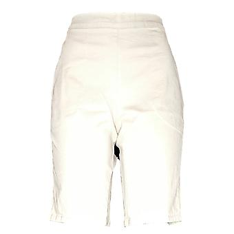Denim & Co. Women's Shorts Pull On Elastic Wasitband Beige A350984