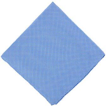 Michelsons of London Pin Dot Silk Handkerchief - Ice Blue