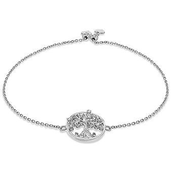 KJ Beckett Tree of Life Adjustable Bracelet - Silver