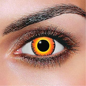 Orange Werewolf Contact lenses (Pair)