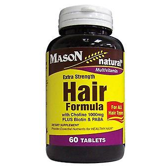 Mason natural extra strength hair formula, tablets, 60 ea