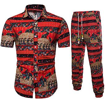 Allthemen Men's Soft Leisure Printed Short-Sleeve Traje