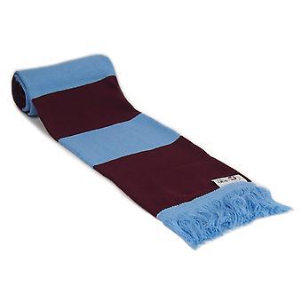 fan originals Retro Football Bar Scarf in Burnley Colours Claret Blue