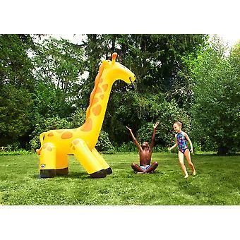 Giraff vatten sprinkler 3m hög uppblåsbar giraff sprinkler med slang anslutning