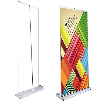 """Deluxe 33""""x79"""" Retractable Rollup Banner Stand Trade Show Display Sign Holder Exhibition Promotion Aluminum Structure"""