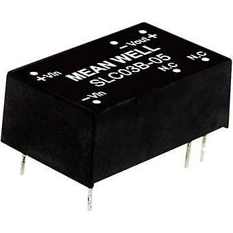 Mean Well SLC03A-12 DC/DC converter (module) 250 mA 3 W No. of outputs: 1 x