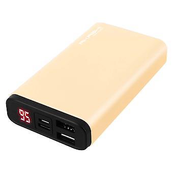 Akıllı telefon ve tablet için 10000mAh Akashi güç bankası- Altın