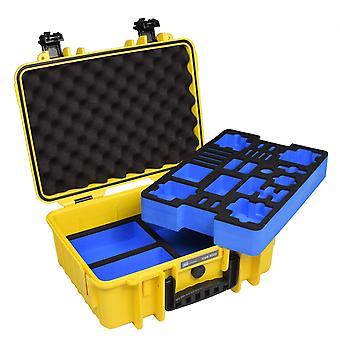 B&W GoPro Case Type 4000 voor GoPro HERO 4, Geel met schuimwisselplaat