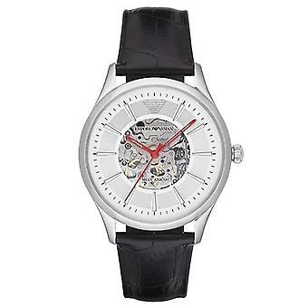 Emporio Armani AR2072 Automatische Sport Zwart Lederen Heren's Horloge