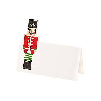Nutcracker Soldier Christmas Place Cards x 12