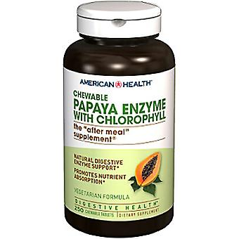 American Health Papaya enzym klorofyll Chewable tabletter 250 Ct